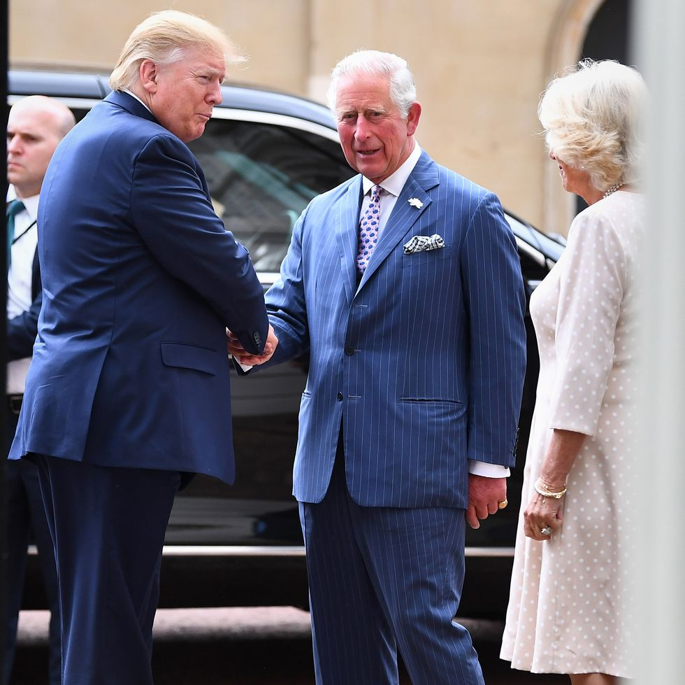 prince charles camilla donald trump president tea state visit