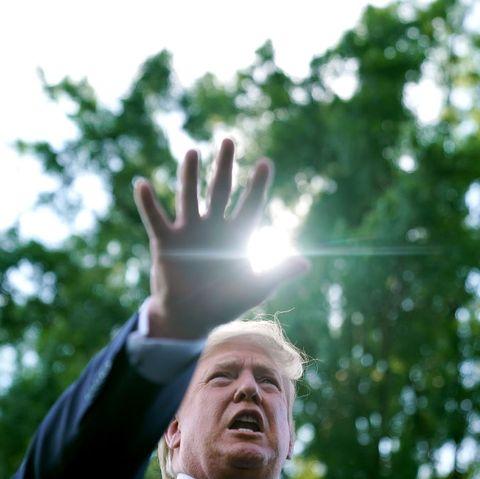 President Trump Departs White House For Bedminster, NJ Estate