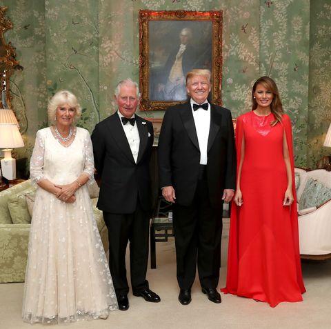 Prince Charles, Camilla, Melania, Trump