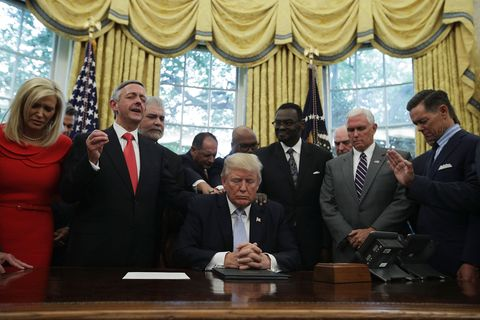 President Trump Signs Proclamation Declaring Sunday Day Of Prayer For Victims Of Hurricane Harvery