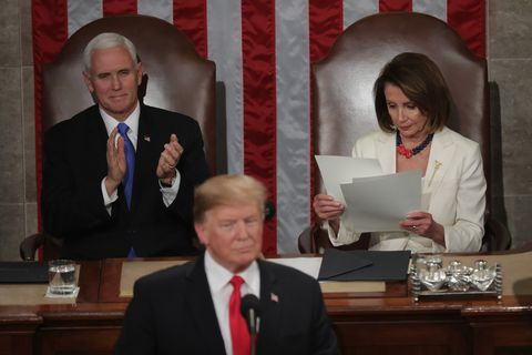 Body Language: President Trump SOTU 2020 President-donald-trump-with-speaker-nancy-pelosi-and-vice-news-photo-1094200472-1549459046