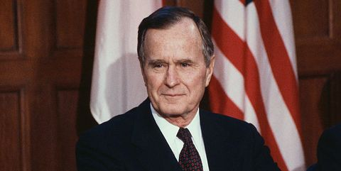President George Bush at Podium