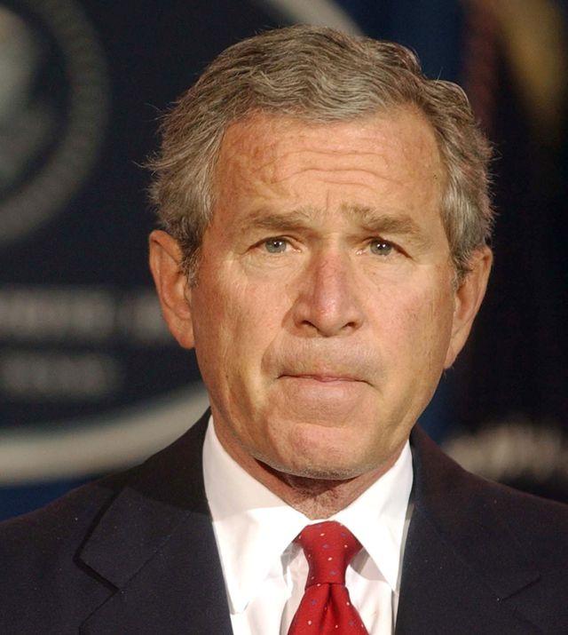 us president george w bush speaks to media at ranch