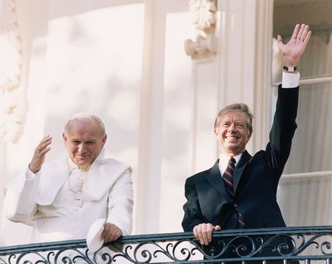 President Carter and Pope John Paul II