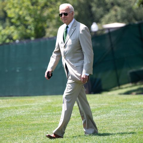 biden on the south lawn before departing for delaware