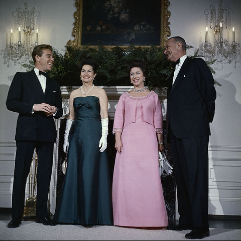 Lyndon Johnson and Wife with Princess Margaret and Lord Snowdon