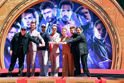 """Marvel Studios' """"Avengers: Endgame"""" Cast Place Their Hand Prints In Cement At TCL Chinese Theatre IMAX Forecourt"""