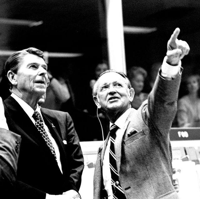 President Reagan At Mission Control