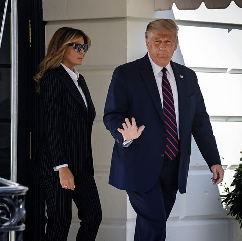 President Trump, on his way to Cleveland for the first televised debate with opponent Joe Biden, leaves the White House on September 29th in Washington, DC