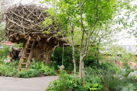 Kate Middleton, the Duchess of Sussex, RHS Back to Nature garden at the Chelsea Flower Show