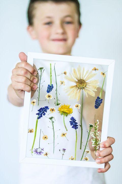 pressed flower art diy gifts mom