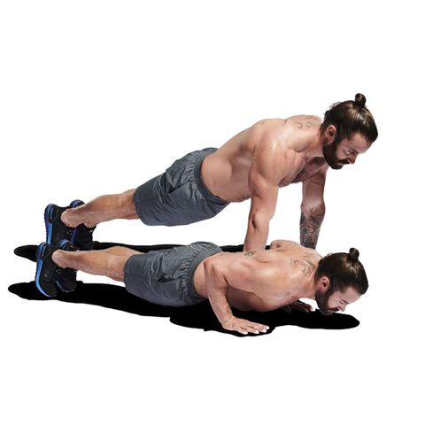 Arm, Shoulder, Abdomen, Leg, Joint, Muscle, Press up, Chest, Elbow, Human body,