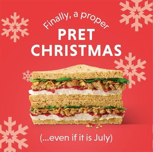 pret a manger's christmas sandwich has been released in july this year