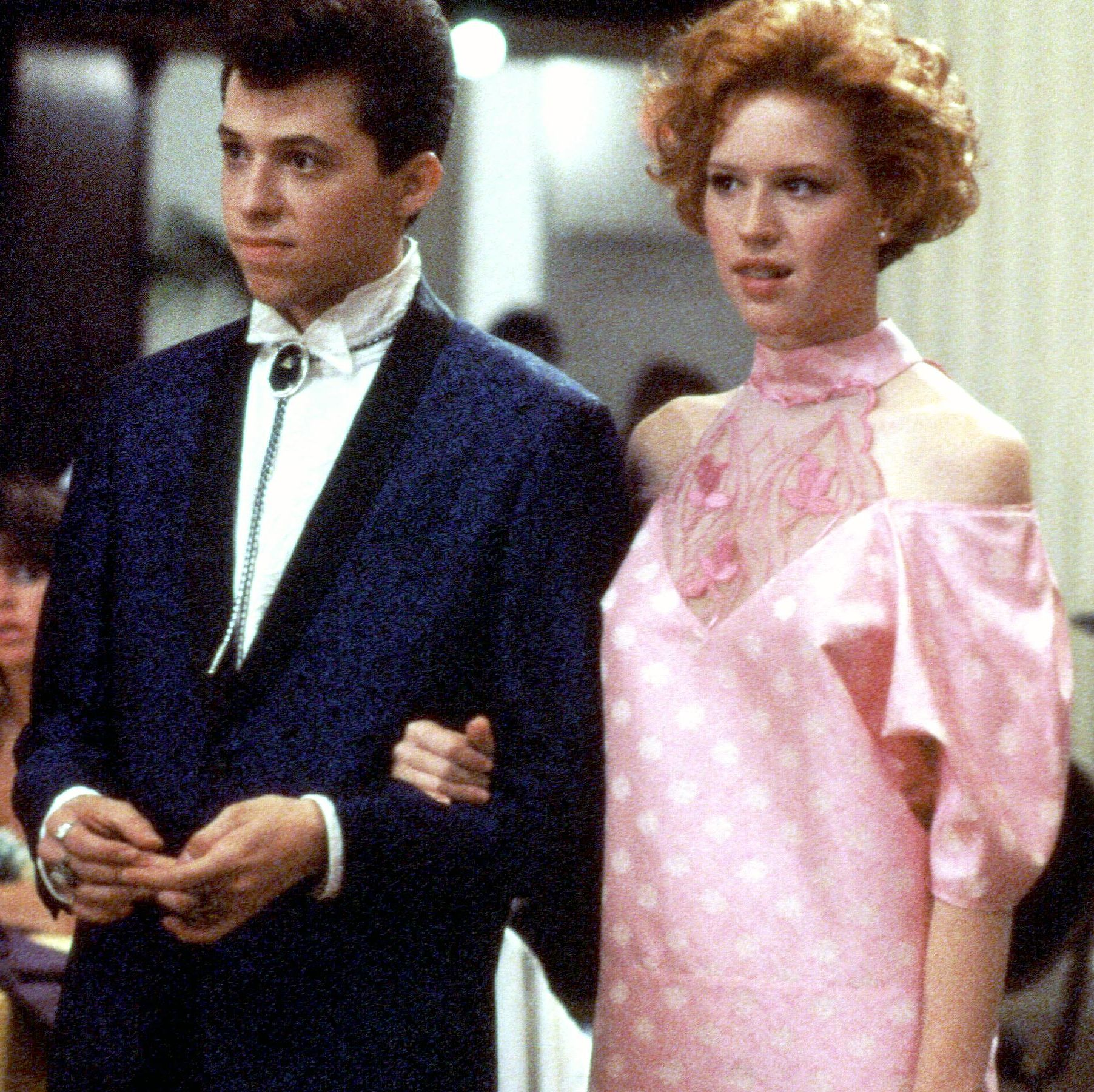 Pretty in Pink (1988) Molly Ringwald stars in this Brat Pack rom-com about an idiosyncratic teenager from the wrong side of the tracks who falls for one of her more popular and wealthy classmates (Andrew McCarthy), much to the dismay of their respective friends.