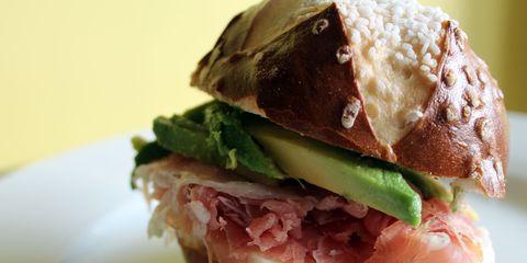 Ravenous Runner Prosciutto Avocado Sandwich