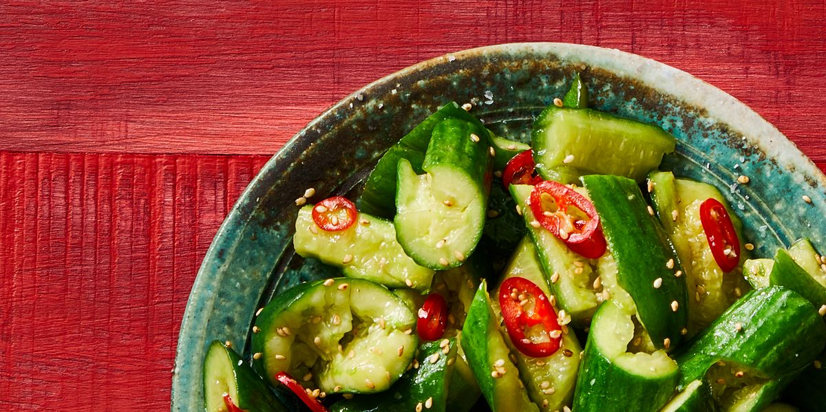 It Only Takes 10 Minutes to Make These Spicy Bashed Cucumbers