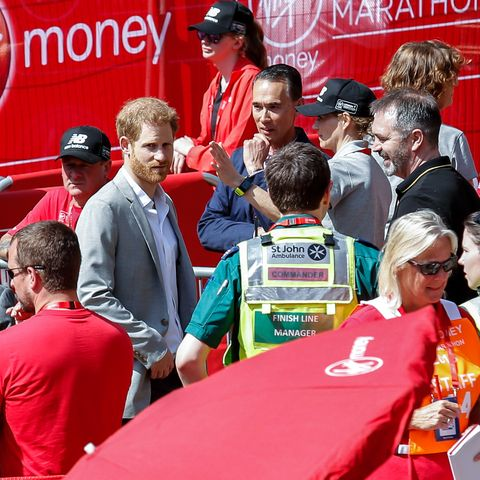Prince Harry at London Marathon 2018