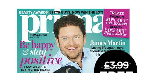 may issue of prima with james martin cover star