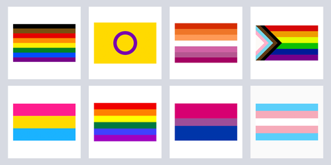 13 lgbtq pride flags