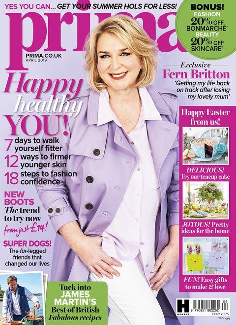 Fern Britton April issue prima