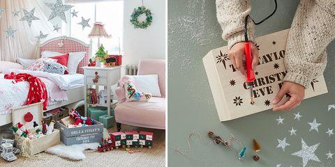 Gift wrapping, Christmas stocking, Christmas decoration, Room, Christmas, Present, Interior design, Home, Interior design, Holiday,