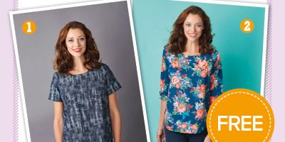 Get the sewing pattern for Prima's stylish boxy top with pockets