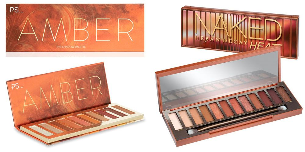 Primark Amber eyeshadow palette Urban Decay Naked Heat dupe