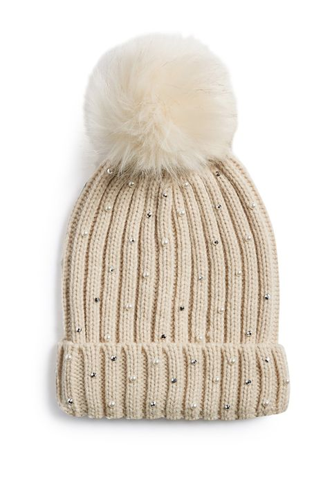 46fd96f0d725 Primark's embellished bobble hats are the perfect cosy accessory for ...