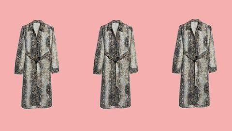 de88d04519 Primark snake skin midi dress - Primark s long-sleeved dress in the ...