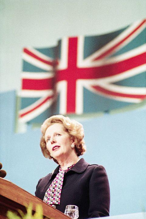 Margaret Thatcher Giving Speech