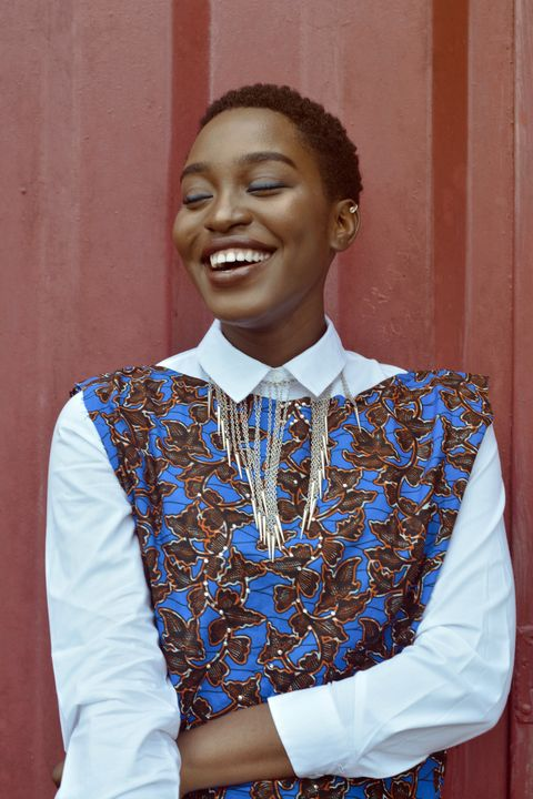 Smile, Sleeve, Collar, Style, Uniform, Tooth, Laugh, Tradition, Makeover, Vintage clothing,