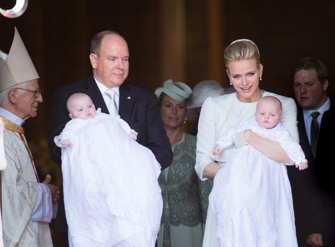 monaco   baptism of the princely children at the monaco cathedral