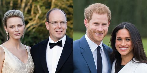 Prince Albert Princess Charlene Prince Harry Meghan Markle