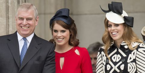 prince andrew with eugenie and beatrice