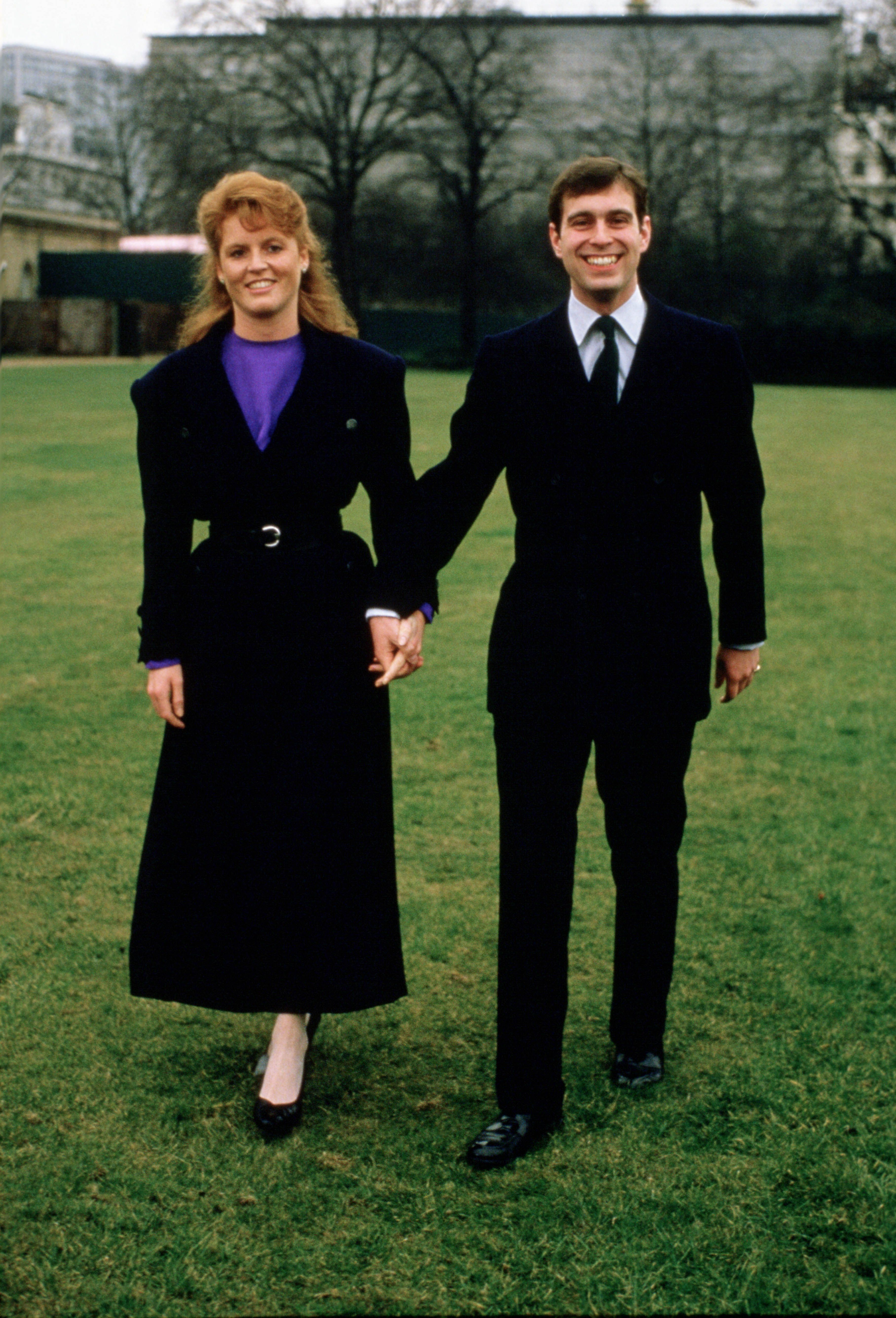 Prince Andrew, Duke of York with Sarah Ferguson after their