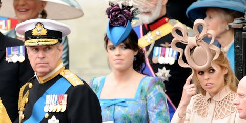 Princess Eugenie and Beatrice at Kate and Will's wedding