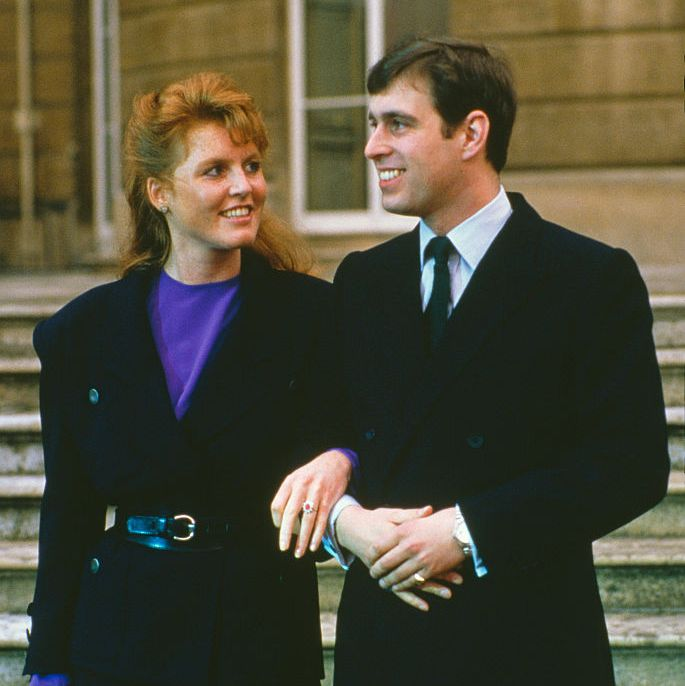Sarah Ferguson and Prince Andrew It was Diana and Charles all over again when Sarah (a.k.a. Fergie) and Andrew got together. The couple seemed like a great match, but they were quickly plagued by rumors that they were having issues because Andrew, who was in the Navy, was away from home a lot.