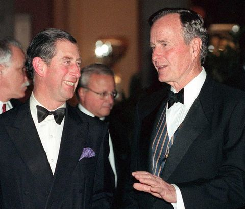 Prince Charles (L) and former US President George