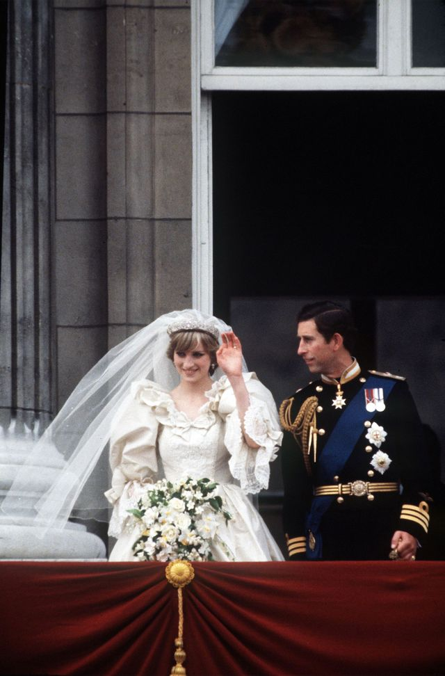 charles diana wedding balcony