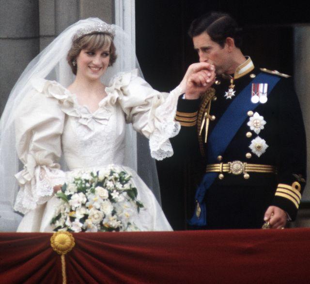 charles diana wedding kissing hand