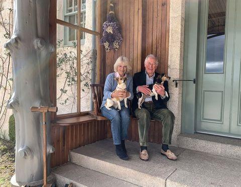 prince charles duchess camilla dogs birkhall anniversary