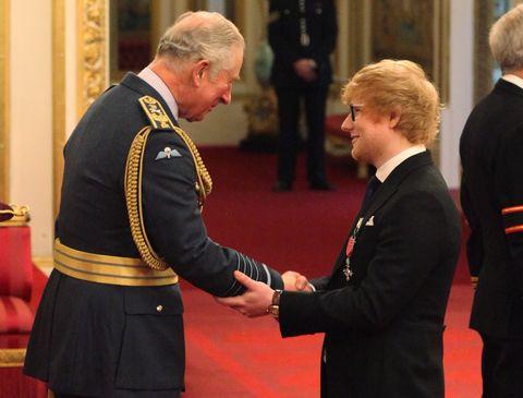 Prince Charles, Ed Sheeran, MBE, protocol