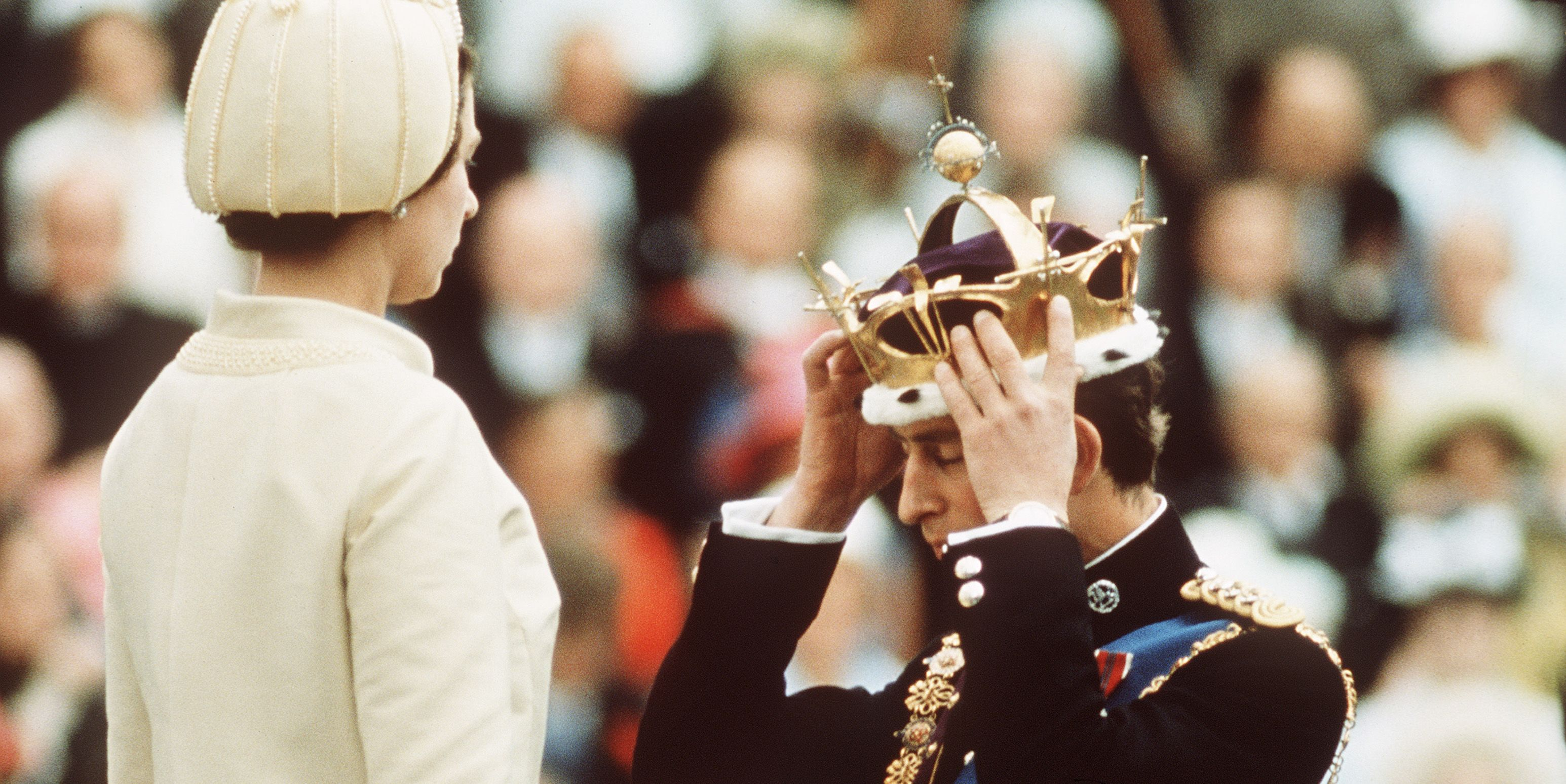 GBR: Queen Elizabeth II crowns Prince Charles, the Prince of Wales