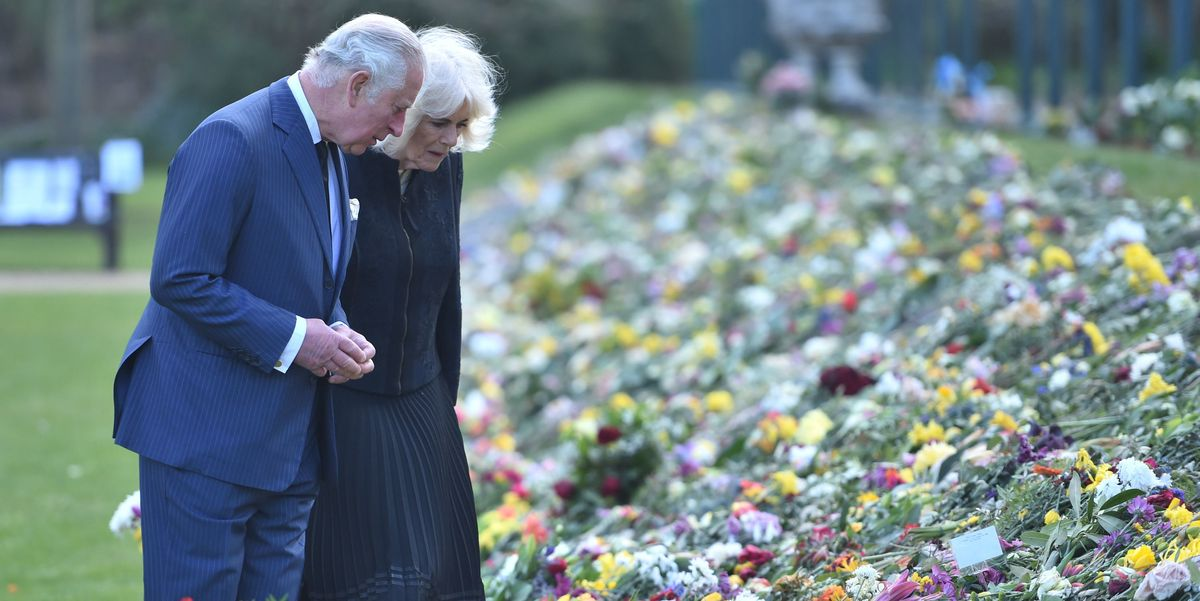 Prince Charles and Camilla Parker-Bowles Visit Memorial to Prince Philip