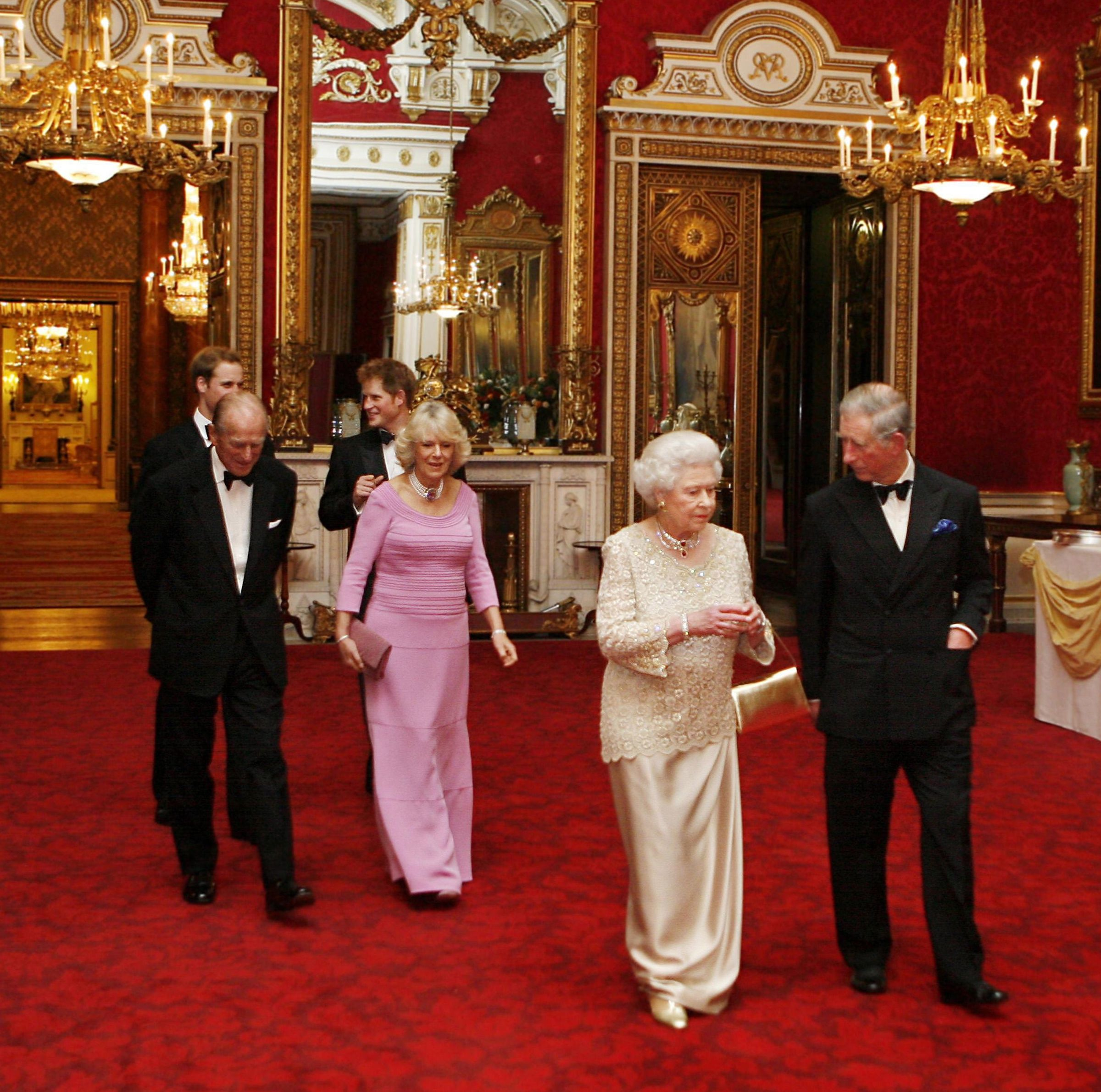 Queen Elizabeth hosts the offiical Gala Party for Prince Charles's 60th birthday.