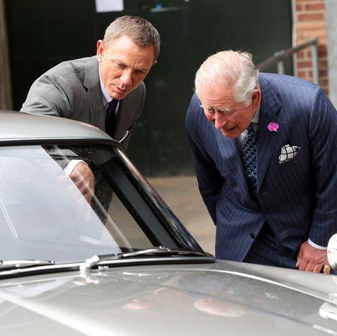 The Prince Of Wales Visits The James Bond Set daniel craig