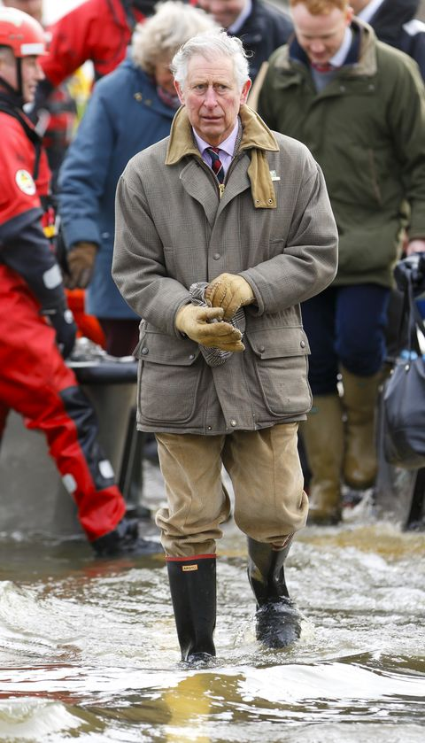 prince charles visits flood hit communities on the somerset levels