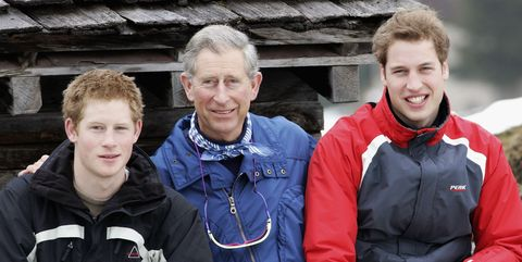 HRH Prince Of Wales & Family Enjoy Skiing Holiday In Klosters