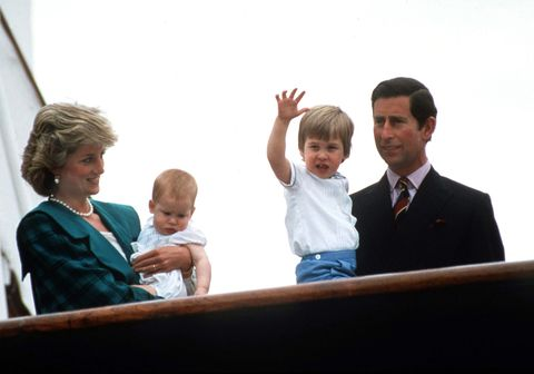 wales family on royal yacht 1985
