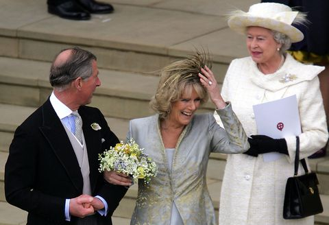 Prince Charles & The Duchess Of Cornwall Attend Blessing At Windsor Castle